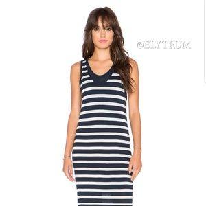 Splendid layered stripe knit maxi dress